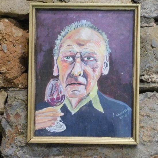Homme au verre de vin
